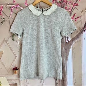 J Crew Peter Pan Tee In Gray